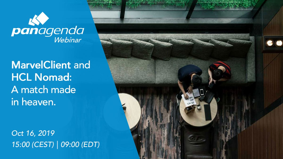 It's here: panagenda MarvelClient for HCL Nomad!